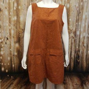Dorothy Perkins burnt orange jumper dress
